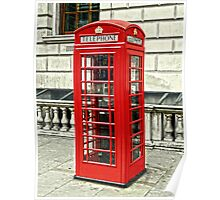 Whitehall Phone Box Poster
