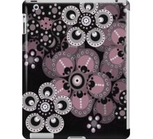 Mauve and Gray Fantasy Flowers iPad Case iPad Case/Skin