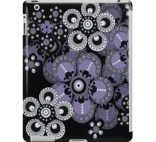 Periwinkle and Gray Fantasy Flowers iPad Case iPad Case/Skin