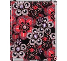 Red, Gray and Black Fantasy Flowers iPad Case iPad Case/Skin