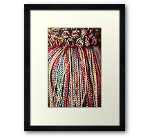 Coloured Tassel Framed Print