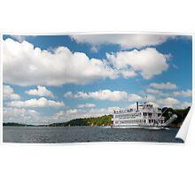 Uncle Sam sternwheeler boat tour st. Lawrence river Poster