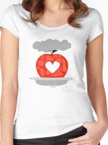 Hurricane Sandy Relief Benefit  Women's Fitted Scoop T-Shirt