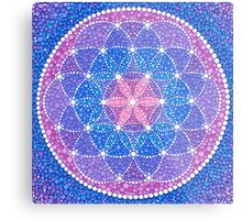 Starry Flower of Life Metal Print