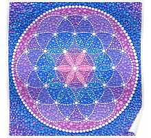 Starry Flower of Life Poster