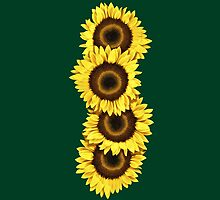 Iphone Case Sunflowers - Dark Green by Mark Podger
