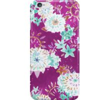 Plum Flourish Floral iPhone Case/Skin