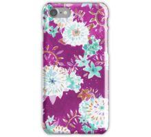 Plum Flourish Floral iPhone Case/Skin