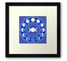 Moon Cycle Mandala Framed Print