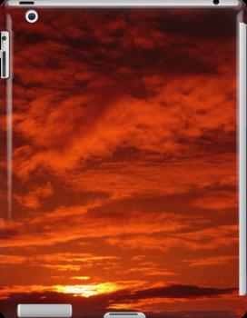 Red Sky North Sea by Paul Holman