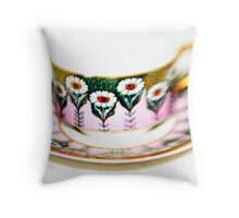 Art Deco Cup & Saucer Throw Pillow