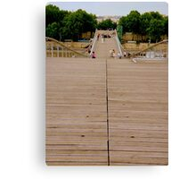 A bridge for pedestrians Canvas Print