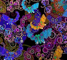 Beautiful Butterflies iPad Case by Cherie Balowski