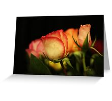 Flowers on a black background Greeting Card