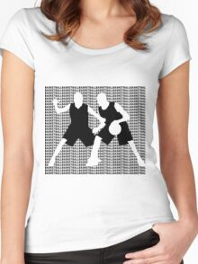 Basketball Dribble  Women's Fitted Scoop T-Shirt