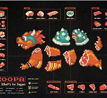 Super Mario/Bowser Made to taste delicious. by Tim Schnapperelle
