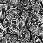 Case Drawing floral abstract background by Medusa81