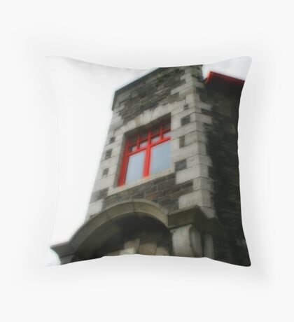 Red Window Only Throw Pillow