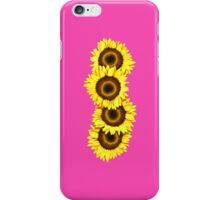 Iphone Case Sunflowers - Shocking Pink iPhone Case/Skin
