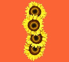 Iphone Case Sunflowers - Sunset Orange by Mark Podger