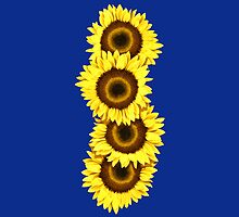 Iphone Case Sunflowers - Dark Blue by Mark Podger