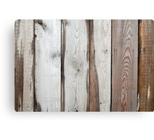 Background of wide boards with natural wood texture Canvas Print