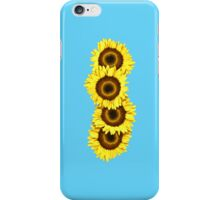 Iphone Case Sunflowers - Light Blue iPhone Case/Skin