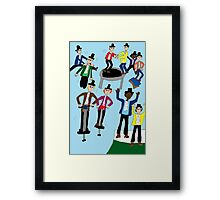Ten Lords A-Leaping Framed Print