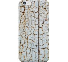 Rusty metal surface which has cracked from age iPhone Case/Skin