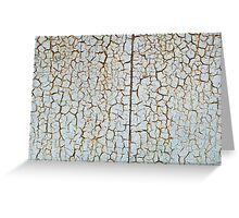 Rusty metal surface which has cracked from age Greeting Card