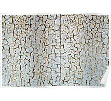 Rusty metal surface which has cracked from age Poster