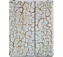 Rusty metal surface which has cracked from age iPad Case/Skin