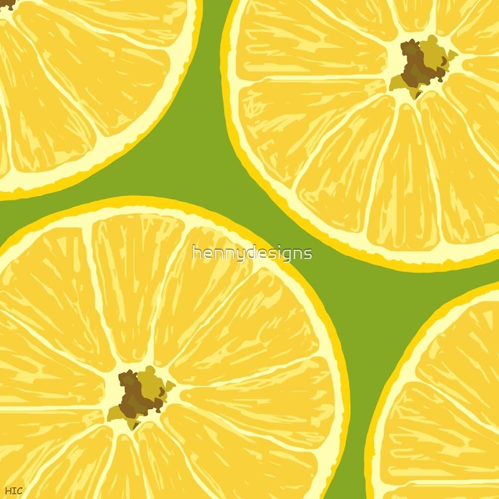 lemons dark lime by hennydesigns