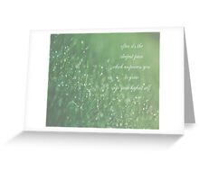 often it's the deepest pain which empowers you to grow into your highest self Greeting Card