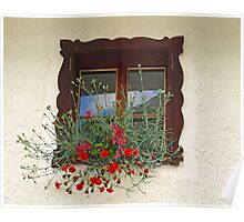 Window & Flowers. Poster