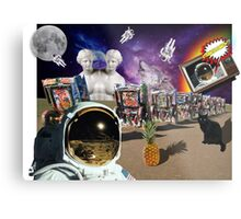 Astronaut Invaders In The Cadillac Desert Metal Print