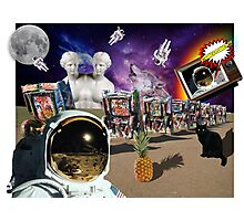 Astronaut Invaders In The Cadillac Desert Photographic Print
