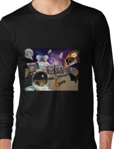 Astronaut Invaders In The Cadillac Desert Long Sleeve T-Shirt