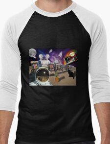 Astronaut Invaders In The Cadillac Desert Men's Baseball ¾ T-Shirt