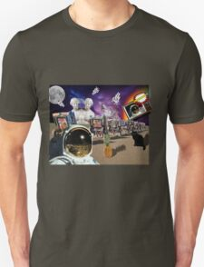 Astronaut Invaders In The Cadillac Desert Unisex T-Shirt