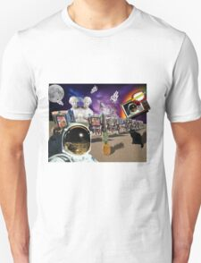 Astronaut Invaders In The Cadillac Desert T-Shirt