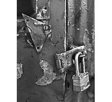Padlocked 5 Black and White Photographic Print