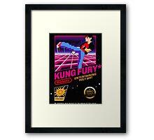 Kung Fu Retro Game Framed Print