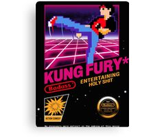 Kung Fu Retro Game Canvas Print