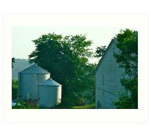 Silo and Farmhouse Art Print