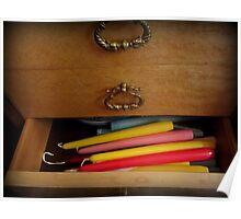 Forgotten candlesticks in a drawer Poster