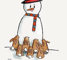 Snow bunnies by twisteddoodles