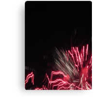 Fireworks Light Trails 10 Canvas Print