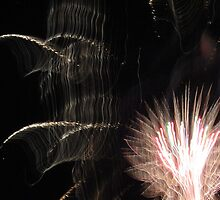 Fireworks Light Trails 11 by marybedy