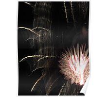 Fireworks Light Trails 11 Poster